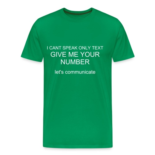give me your number t-shirt green - Men's Premium T-Shirt