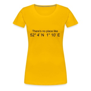 There's no place like..... (Yellow) - Women's Premium T-Shirt