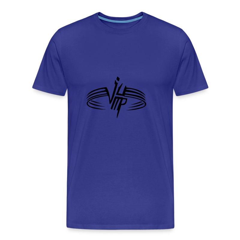 eigen tekst achter - Mannen Premium T-shirt
