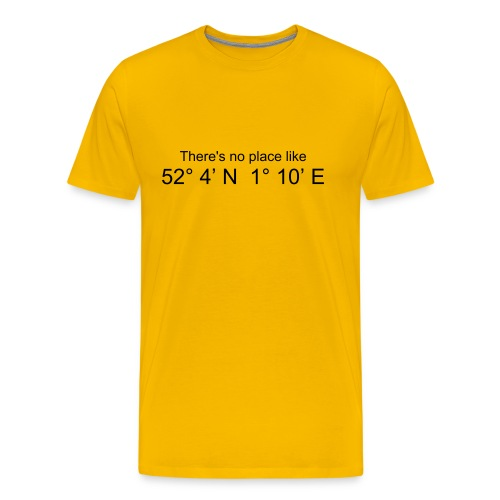 There's no place like..... (Yellow) - Men's Premium T-Shirt