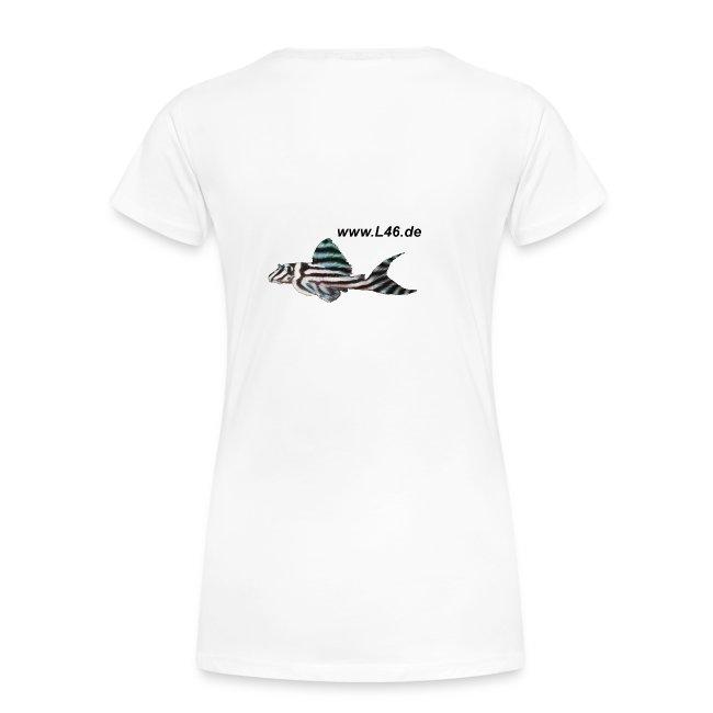 Girly-T Weiß 2 Logo klein+groß