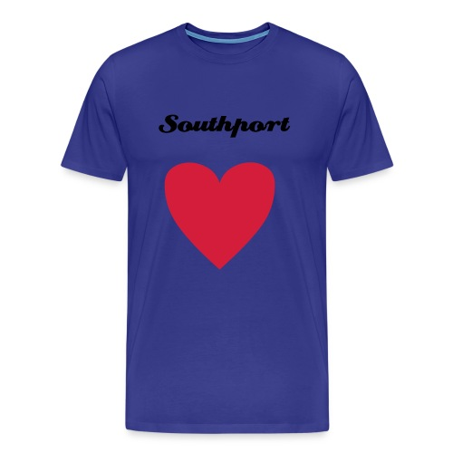 Southport Heart Blue - Men's Premium T-Shirt
