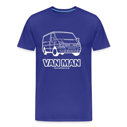 Van Man - Ford Transit / Tourneo T-Shirt - Royal Blue - Men's Premium T-Shirt
