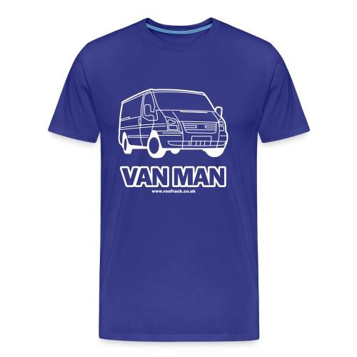 Van Man - Ford Transit / Tourneo T-Shirt - Royal Blue - Men's Premium T-Shirt