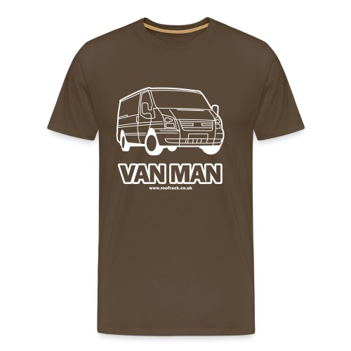 Van Man - Ford Transit / Tourneo T-Shirt - Brown - Men's Premium T-Shirt
