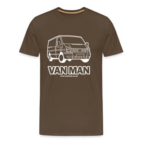 Van Man - Ford Transit / Tourneo T-Shirt - Brown - Men's Premium T-Shirt