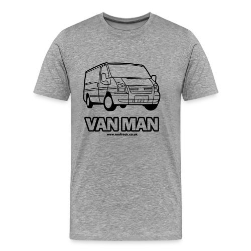 Van Man - Ford Transit / Tourneo T-Shirt - Grey - Men's Premium T-Shirt