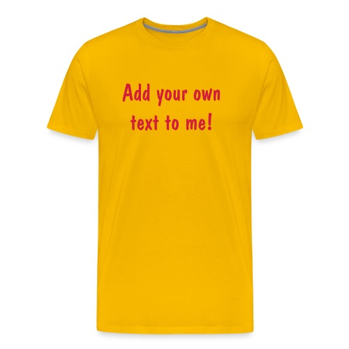 Yellow T-shirt. - Men's Premium T-Shirt
