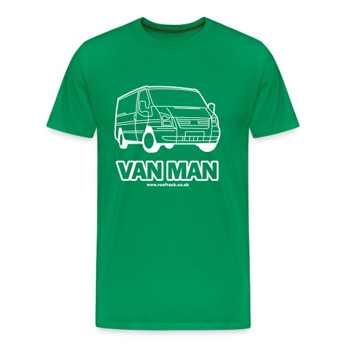 Van Man - Ford Transit / Tourneo T-Shirt -  Green - Men's Premium T-Shirt