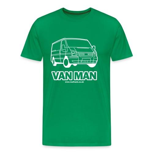Van Man - Ford Transit / Tourneo T-Shirt -  Green - Men's Premium T-Shirt