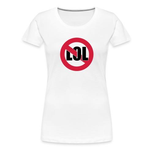 LOL Girl Weiss - Frauen Premium T-Shirt