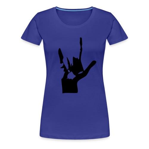 Handzeichen ILY - Frauen Premium T-Shirt