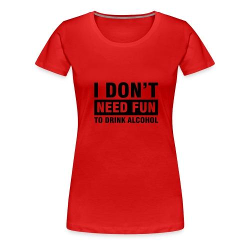 alkohol - Premium T-skjorte for kvinner