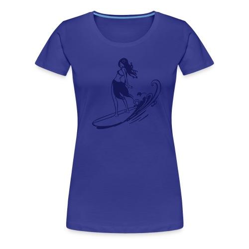 surf chick - Frauen Premium T-Shirt