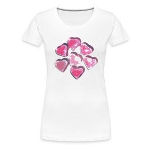 Glass Hearts T-Shirt - Women's Premium T-Shirt