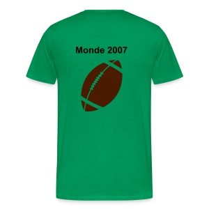 Rugby 2007 Impression Recto Verso - T-shirt Premium Homme