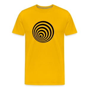 Retro T Shirt with a Crazy Swirl - Men's Premium T-Shirt