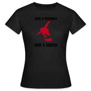 Sonderangebot: Save A Sidewalk - Ride A Skater - Girl - Frauen T-Shirt