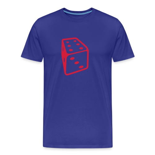 Hustla's red dice T - Men's Premium T-Shirt