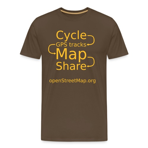 Brown/yellow T (front) - Men's Premium T-Shirt