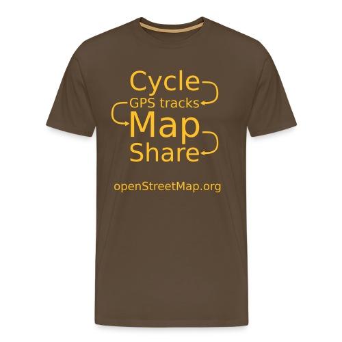 Brown/yellow T (front) - Men's Premium T-Shirt