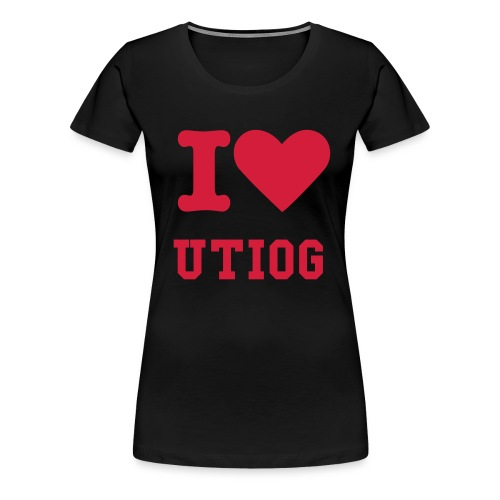 UTIOG - I Love RED - Women's Premium T-Shirt