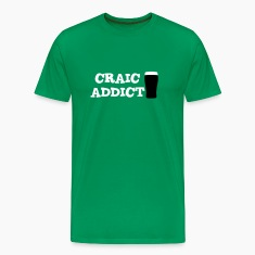 Grass green Craic Addict T-Shirts
