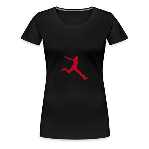 Motive-T-Shirt, Freudensprung - Frauen Premium T-Shirt
