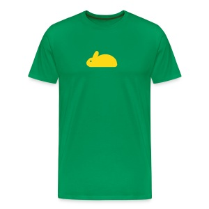 BUNNY vihreä/keltainen - Miesten premium t-paita