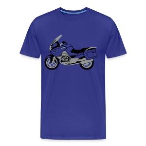 R1200RT Silver Lowers (Royal Blue) - Men's Premium T-Shirt
