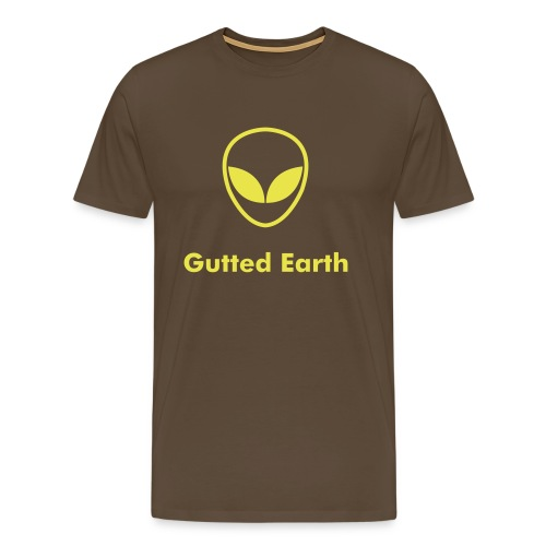 Gutted Earth - Brown - Men's Premium T-Shirt