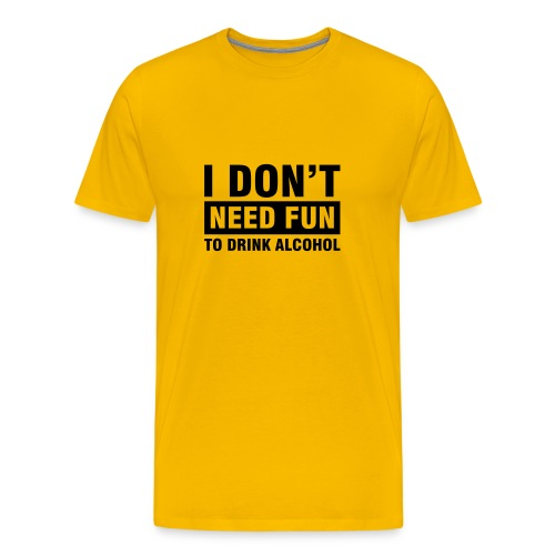 D's Alcohol Yellow - Mannen Premium T-shirt
