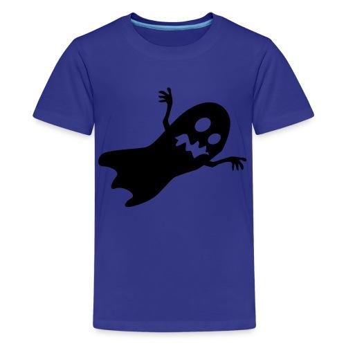 T-skjorte blå spøkelse - Premium T-skjorte for tenåringer