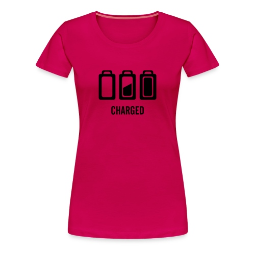 charged tshirt rose - T-shirt Premium Femme