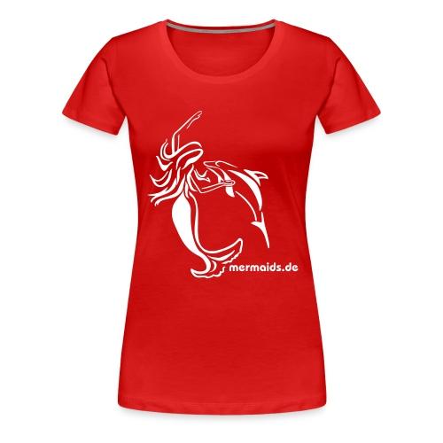 Mermaids Seejungfrau und Delphin - Frauen Premium T-Shirt