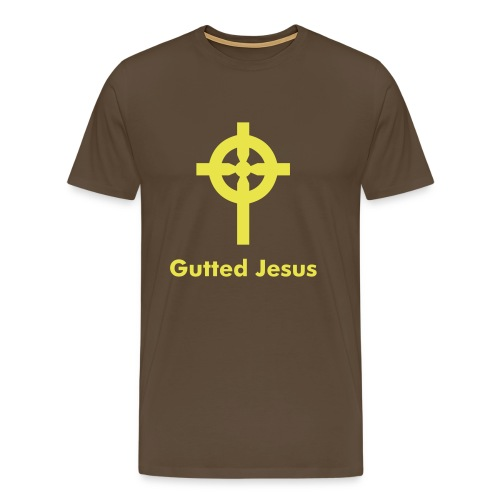 Gutted Jesus - Brown - Men's Premium T-Shirt