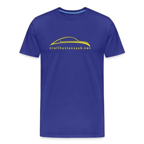 TS Blu/Yellow UrSaab tee - Men's Premium T-Shirt