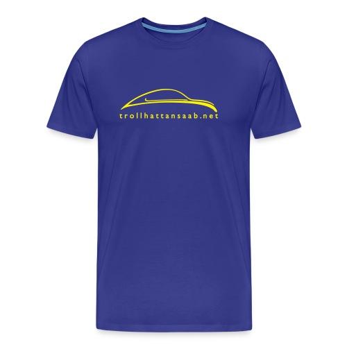 TS Blu/Yellow UrSaab tee - Men's Premium T-Shirt