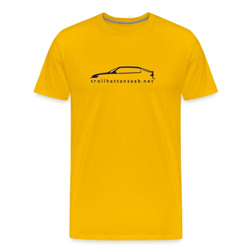 TS Yellow/Blu Viggen tee - Men's Premium T-Shirt