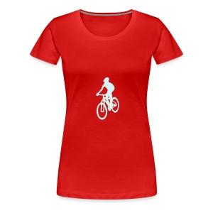 MTB-T-Shirt red - Frauen Premium T-Shirt