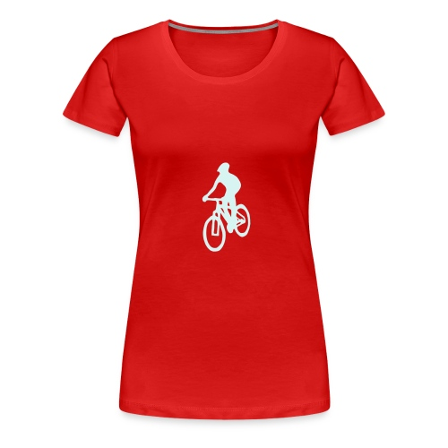 MTB-T-Shirt red - Frauen Premium T-Shirt