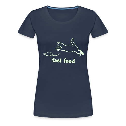 fast food3 - Frauen Premium T-Shirt