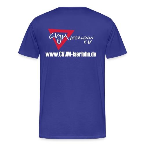 T-Shirt mit Logo hinten - Männer Premium T-Shirt