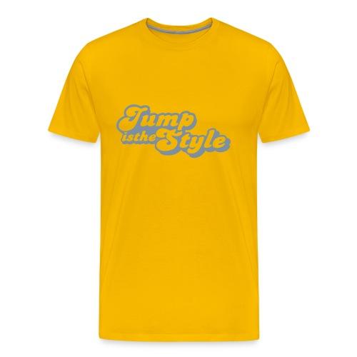 Mannen Premium T-shirt - heren shirt jumpisthestyle zilver
