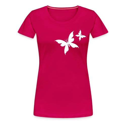 papillons blancs - T-shirt Premium Femme