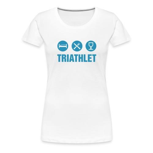 Triathlet Girlie - Frauen Premium T-Shirt