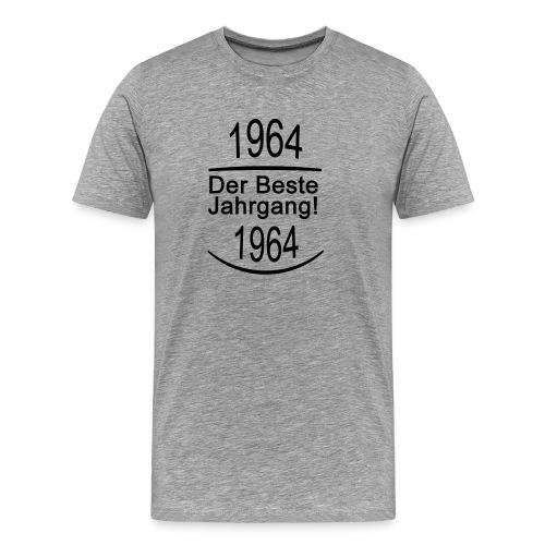 1964 Der Beste Jahrgang! Schrift Schwarz - Männer Premium T-Shirt