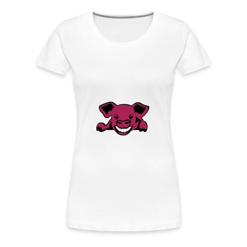 Fun-Shirt Girlie mit Schwein - Frauen Premium T-Shirt
