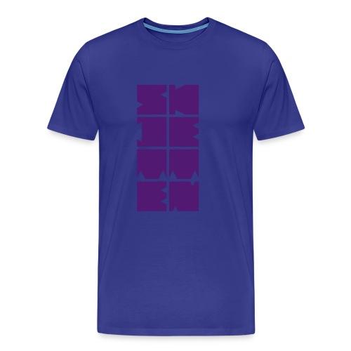 Skjetten Varehus (Blokkbokstaver) - Premium T-skjorte for menn