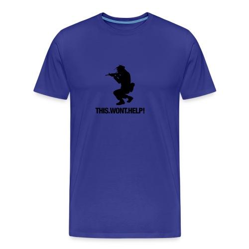 This.Wont.Help! - Koszulka męska Premium